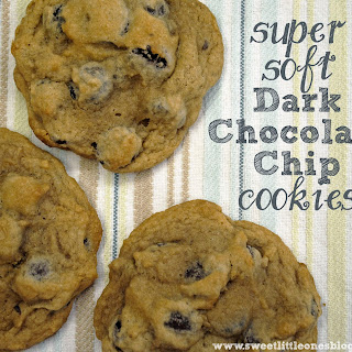 Super Soft Dark Chocolate Chip Cookies