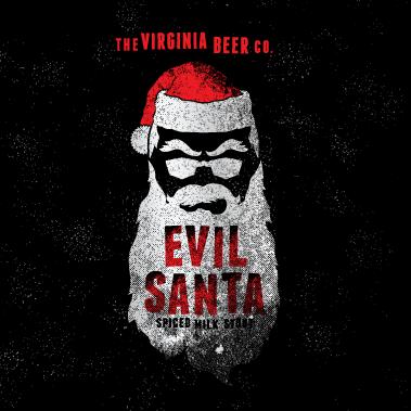 Logo of Virginia Beer Co. Evil Santa Spiced Milk Stout