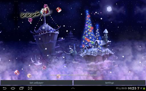 Christmas Snow Fantasy Live Wallpaper screenshots 1
