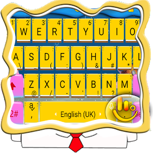Yellow Cute Cartoon Keyboard Theme