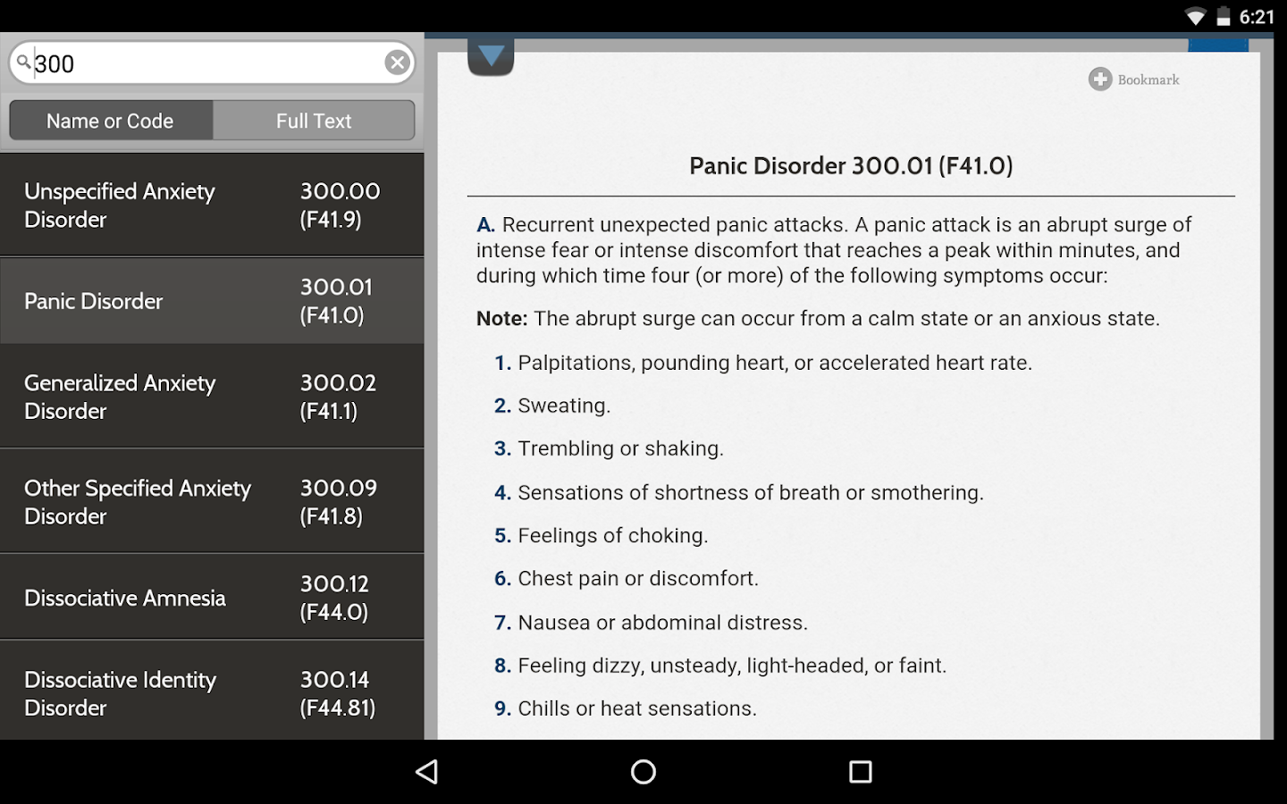 DSM-5 Diagnostic Criteria- screenshot