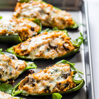 Queso Stuffed Poblanos.