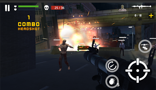 Dead Zombie Battle: Zombie Defense Warfare MOD (Money) 4