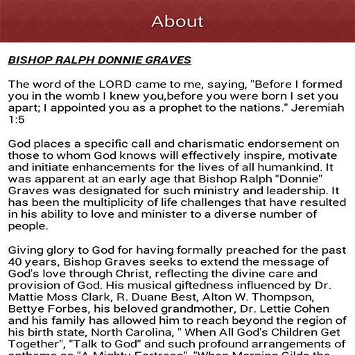 Bishop Donnie Graves