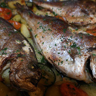 Baked Sea Bream with Veggies
