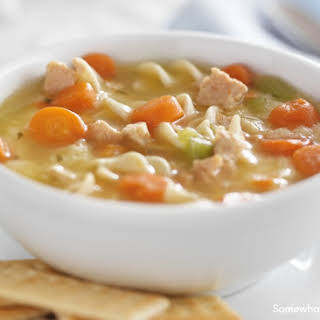 Creamy Crock Pot Chicken Noodle Soup.