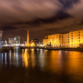 Liverpool Albert Dock by Katarzyna Najderek - City,  Street & Park  Night ( liverpool, night, cityscape )