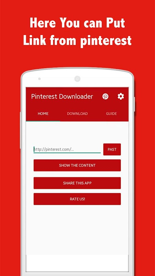 downloader app video pinterest
