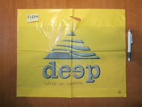Photo: Deep taste of cotton Market ld blysk Flekso 2 kol bialy podklad i czarny+raster 30 lpi na zoltej od 5000 szt Odziez