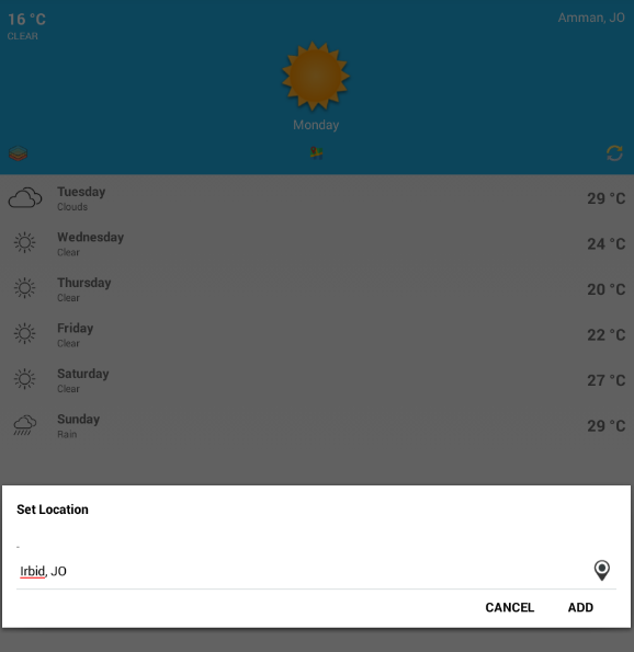 ‫Jordan Weather طقس الأردن‬‎- screenshot