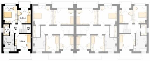 Dąb 2 - Rzut piętra - segment A