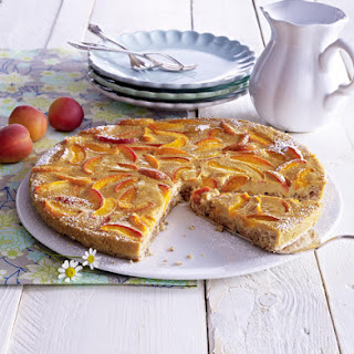 Gluten Free Apricot Tart with Caramel Decoration