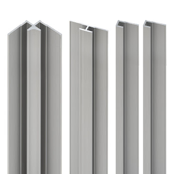 DecoDesign - Zubehör Profilset - Alu-Natur (01), Länge 2550 mm