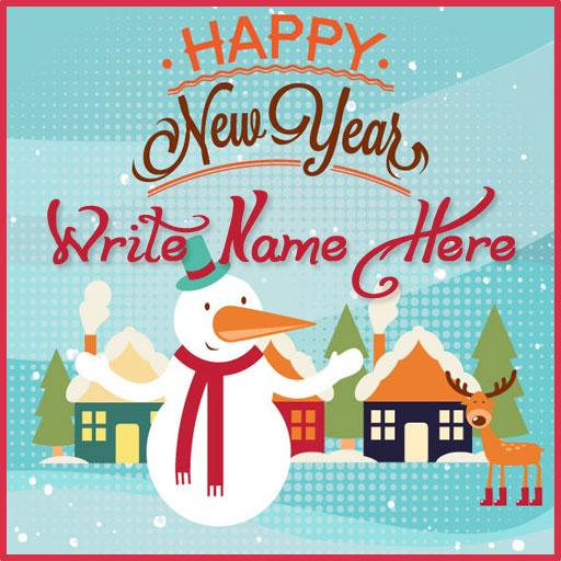 Name On Merry Christmas  & New Year Greeting Cards