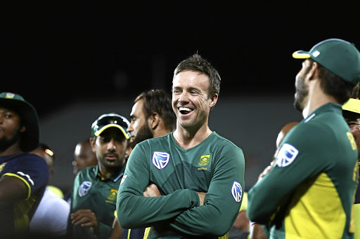 Winning smile: AB de Villiers enjoys the victory in New Zealand. Picture: GALLO IMAGES/ANTHONY AU-YEUNG