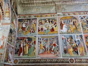 Photo: The chapel sides depict scenes from the life of Christ ...