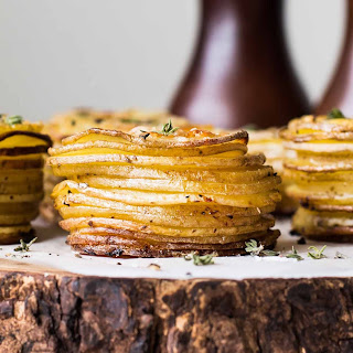 Crispy Parmesan Potato Stacks.