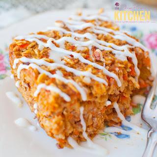 Carrot Cake Oatmeal Bake