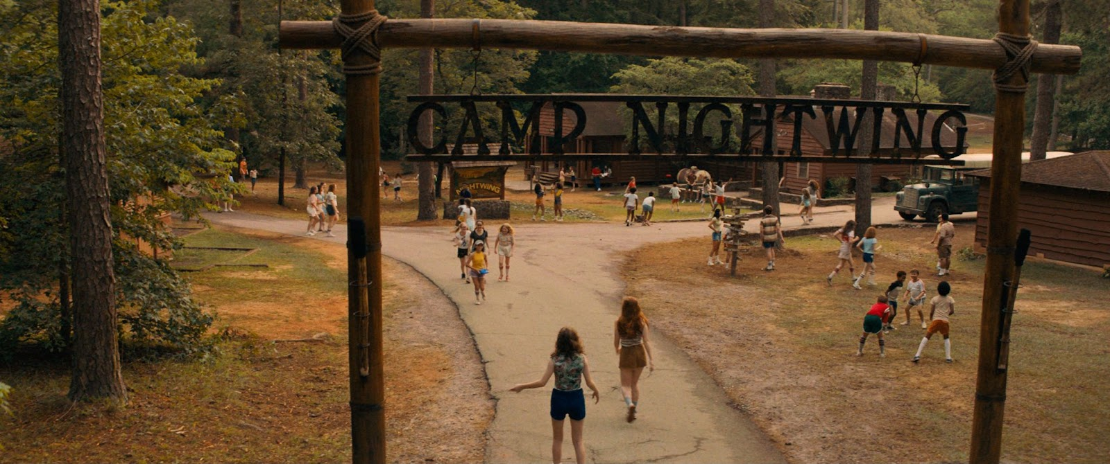 The Berman sisters arriving at Camp Nightwig. Courtesy of Netflix.