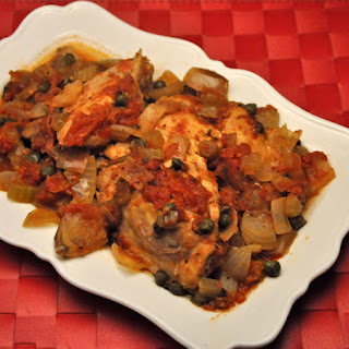 Chicken with Tomatoes and Capers, Slow Cooker.