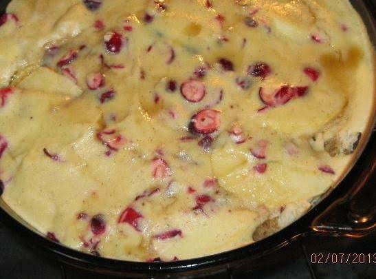 Cranapple Ricotta Pudding Recipe