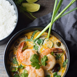 Thai Coconut Shrimp Soup.