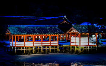 """Photo: This photo appeared in an article on my blog on Oct 28, 2013. この写真は10月28日ブログの記事に載りました。 """"The Richness of Miyajima's Itsukushima Shrine at Dusk"""" http://regex.info/blog/2013-10-28/2327"""