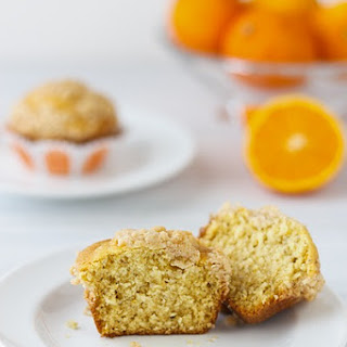 Orange Chia Seed Streusel Muffins