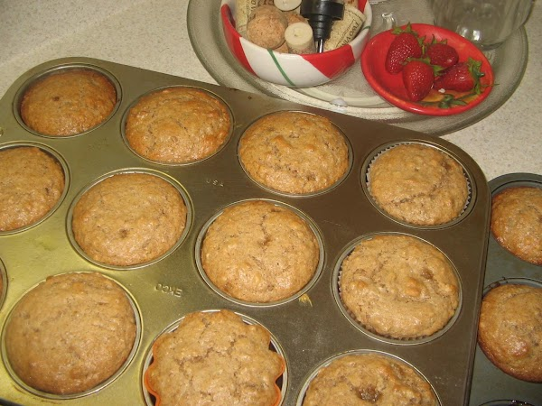 Spoon batter evenly into the prepared muffin  cups, fill each cup to the...
