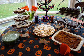 Photo: My neighbor is a graduate of the Culinary Institute of America. One corner of a birthday party for a 6-year-old.
