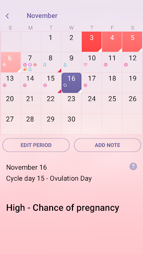 Period Tracker - Ovulation & Pregnancy Calendar screenshot 3