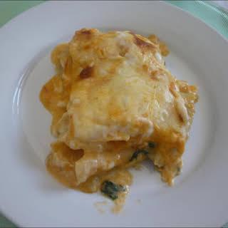 Codfish and Spinach Lasagna.