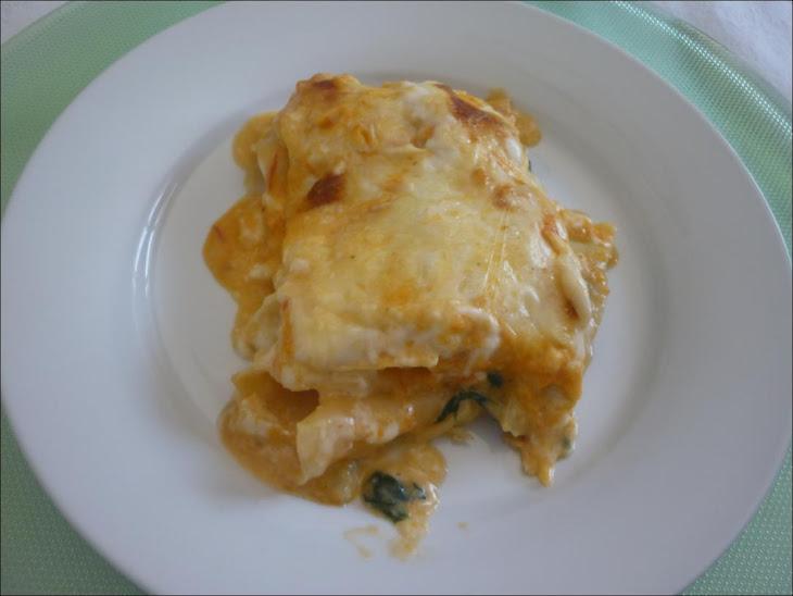 Codfish and Spinach Lasagna