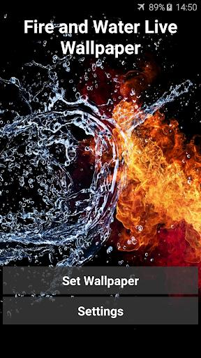 火・水のライブ壁紙