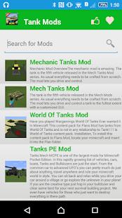 Tank Mod For MCPE. screenshot