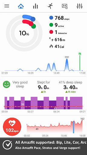 Notify & Fitness for Amazfit 8.8.10 screenshots 1