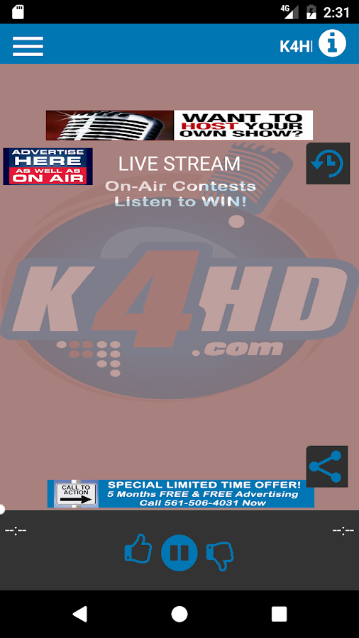 K4HD Radio- screenshot