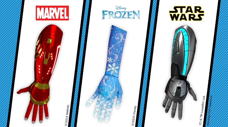 Open Bionics также подписала соглашение о беспроигрышном соглашении с Disney, позволяющее использовать дизайн Disney для их протезирования.