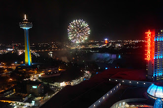 Photo: Fireworks over the Falls
