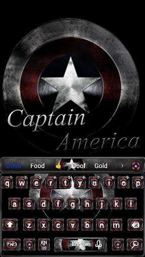 Captain America  Keyboard theme 10001002 screenshots 1