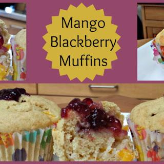 Mango Blackberry Muffins.