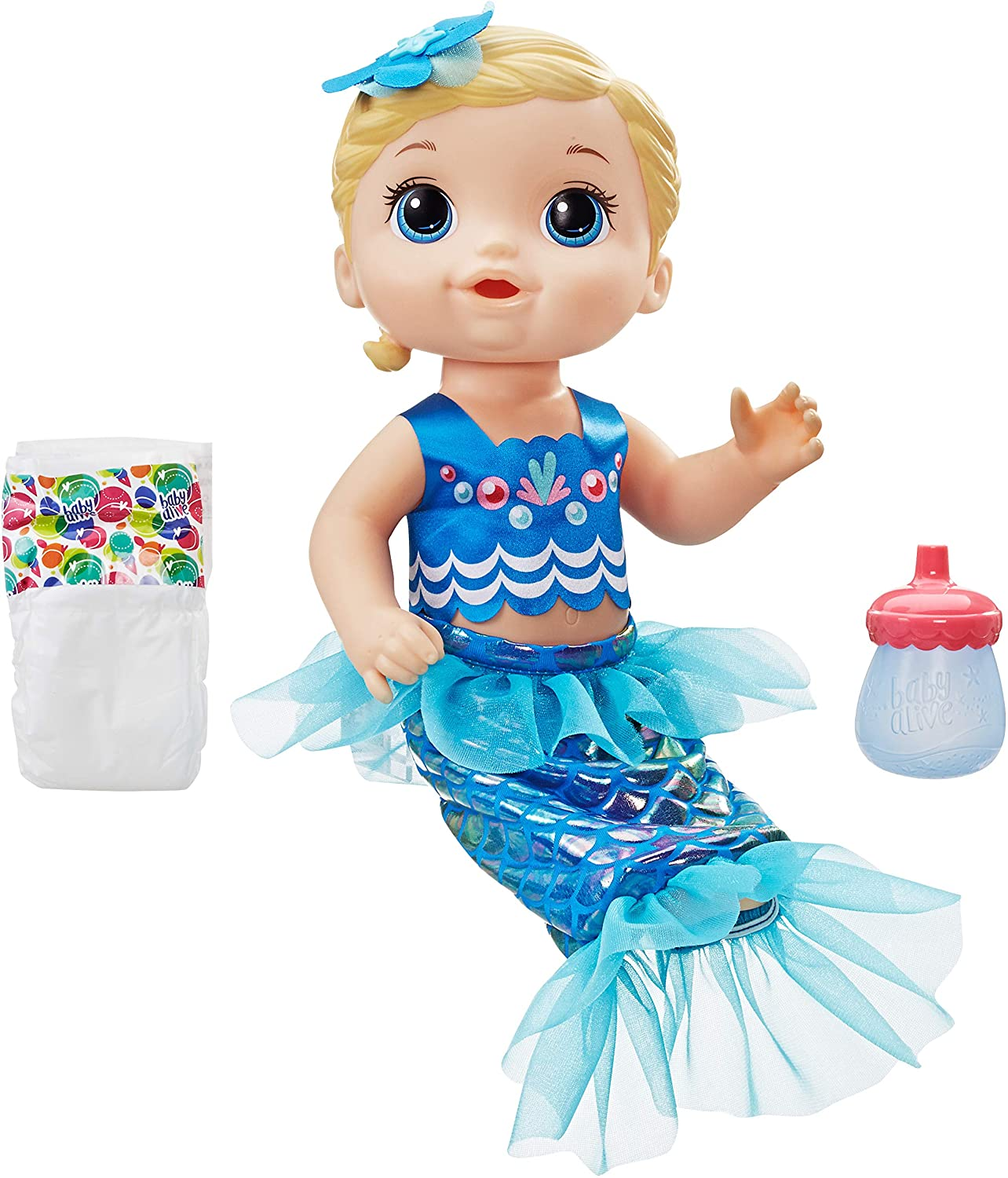 Baby Alive Shimmer n' Splash Mermaid Bath Time Baby Doll