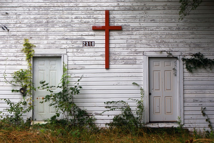 Old Church by Kevin Sullivan - Buildings & Architecture Other Exteriors ( church, alabama, cross )