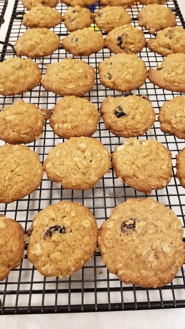 Fannie Farmer's Cape Cod Oatmeal Cookies. Substituted Dried Cranberries For Raisins.