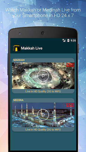 Screenshot for Live Makkah & Madinah TV Streaming - Kaaba TV PRO in United States Play Store