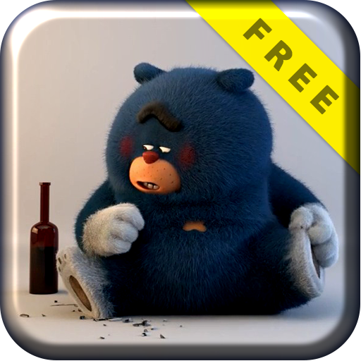 Bad Blue Bear Live Wallpaper