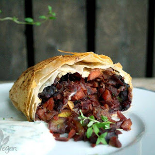 Strudel with Root Vegetables and Yoghurt.