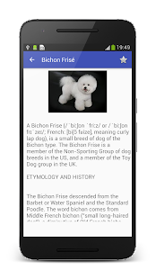 Dog Breeds Encyclopedia: miniatura de captura de pantalla