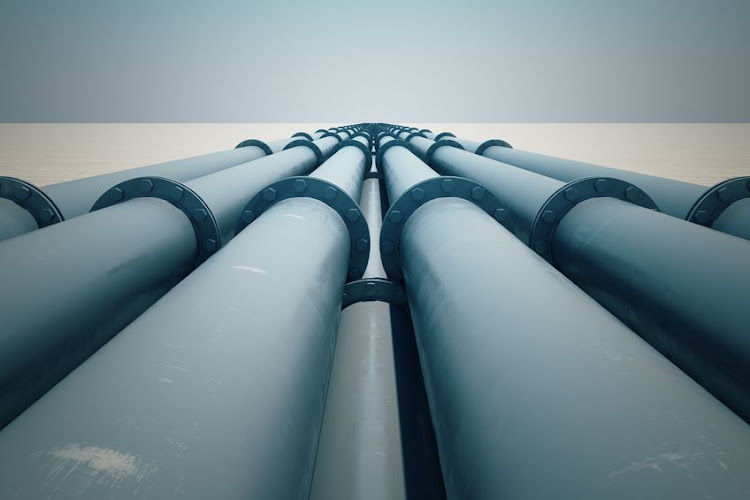 A drone team working on a fuel pipeline saw suspicious activity. Stock photo.