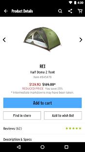 REI – Shop Outdoor Gear- screenshot thumbnail